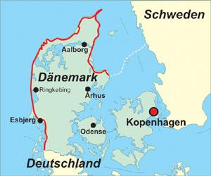 Dänemark Nordseeküste Karte.Nordseeküstenradweg Dänemark
